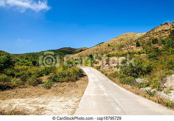 Road to the mountain - csp18795729