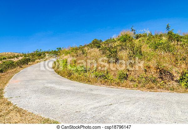 Road to the mountain - csp18796147