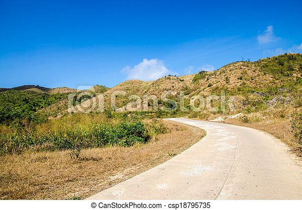 Road to the mountain - csp18795735