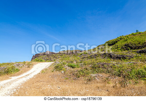 Road to the mountain - csp18796139
