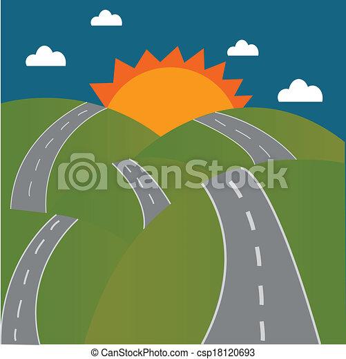 Road to the sun on mountain - csp18120693