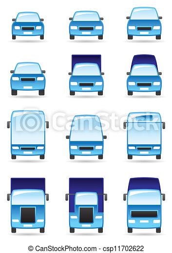 Road transport icons set - csp11702622