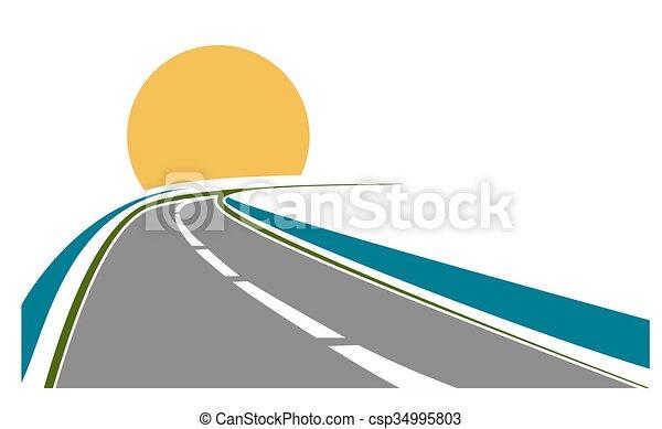 Road transportation theme - csp34995803
