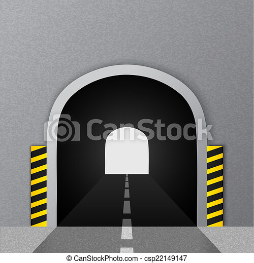Road tunnel. Vector illustration. - csp22149147