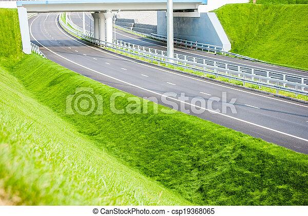 road under bridge - csp19368065