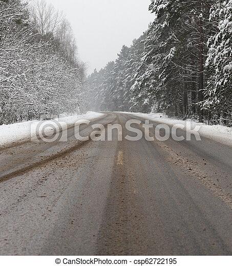 Road under the snow - csp62722195