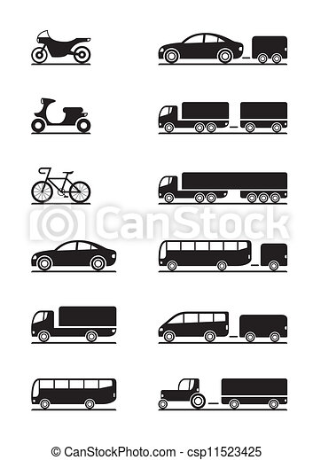 Road vehicles icons - csp11523425