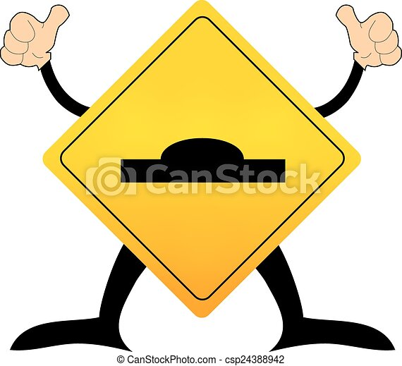 road warning sign with surface Jump street - csp24388942