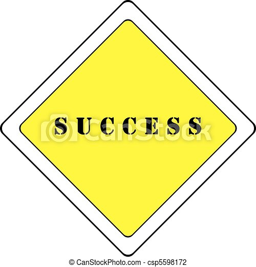ROAD WITH PRIORITY TO SUCCESS - csp5598172