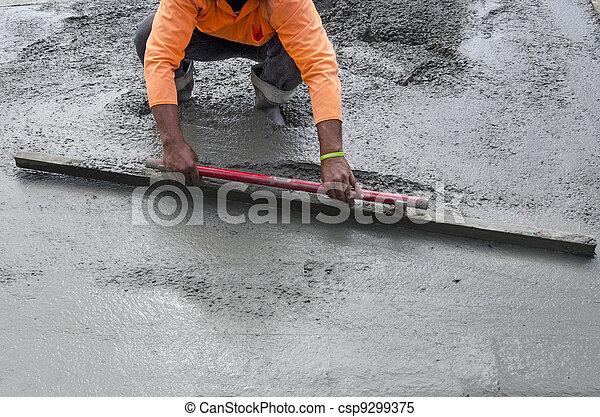 Road Working - Concrete - csp9299375