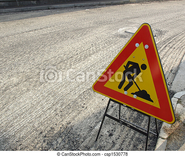 Road works - csp1530778