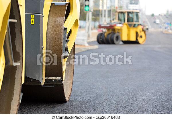 Road works - csp38616483