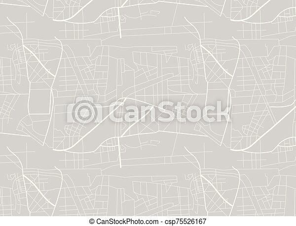 roads., map., piano, illustrazione, città, vettore - csp75526167