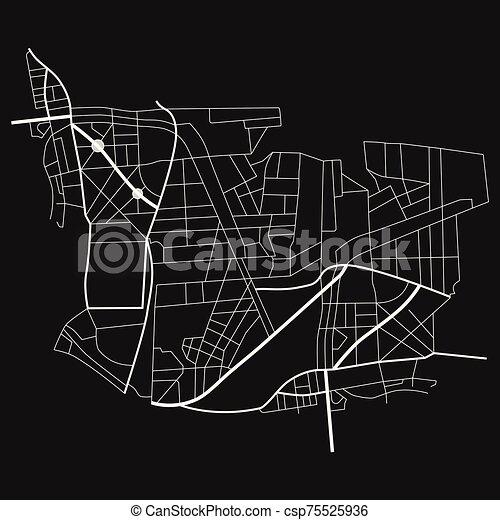 roads., map., piano, illustrazione, città, vettore - csp75525936