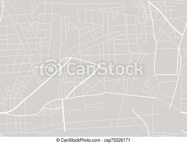 roads., modello, mappa, piano, map., illustrazione, città, vettore, seamless - csp75526171