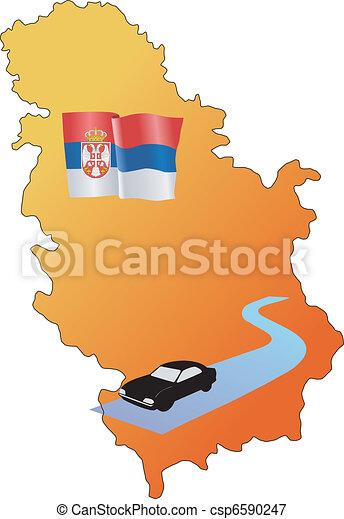 roads of Serbia - csp6590247
