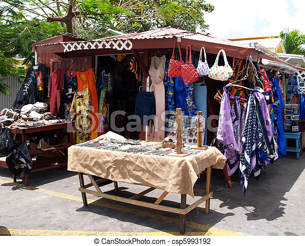 Roadside Shop in Antigua Barbuda - csp5993192