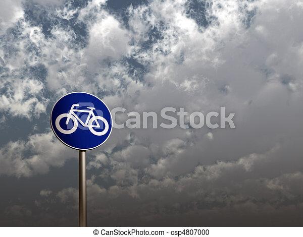 roadsign bicycle - csp4807000