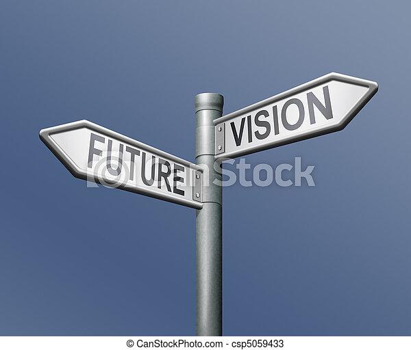 roadsign future vision - csp5059433