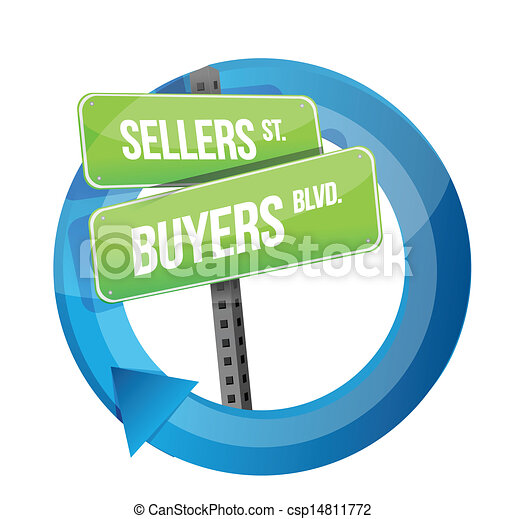 roadsign of words sellers and buyers - csp14811772
