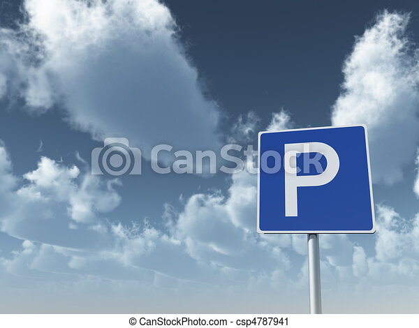 roadsign parking - csp4787941