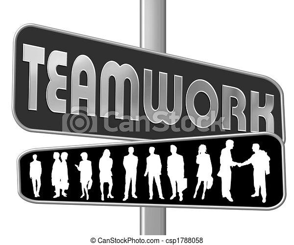 roadsign - teamwork - csp1788058