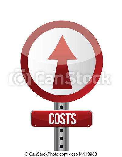roadsign with a cost increase concept. - csp14413983