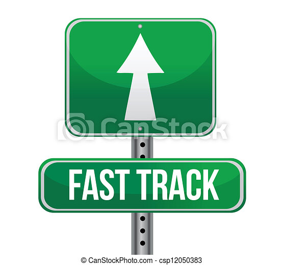 roadsign with a fast track concept - csp12050383