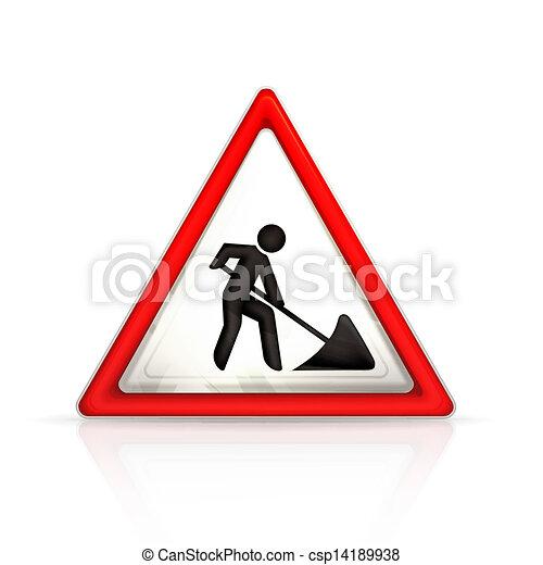 Roadworks sign - csp14189938