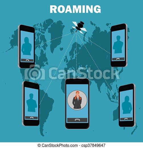 roaming concept, vector - csp37849647
