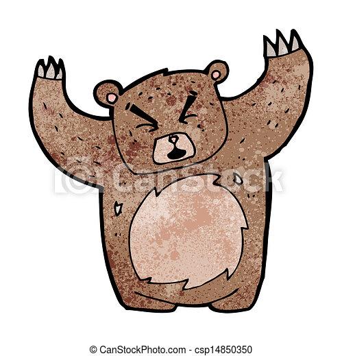 Growling bear cartoon