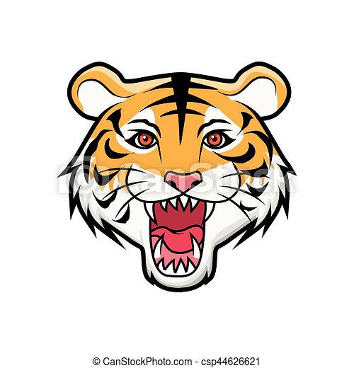 roaring tiger head vector illustration search clipart drawings rh canstockphoto com tiger head clipart free tiger head clip art toothless