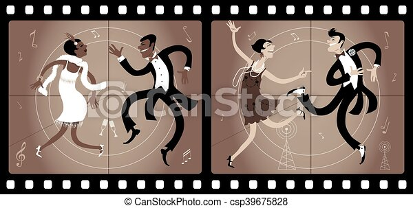 Roaring twenties cinema - csp39675828