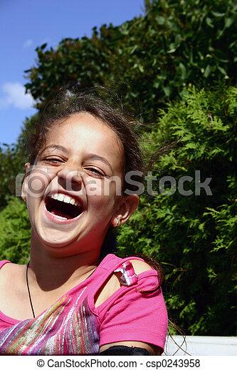 roars, laughter. - csp0243958