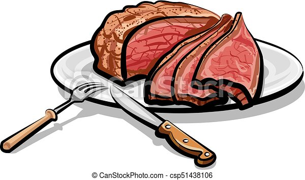 illustration of cooked roast beef meat on plate vector clipart rh canstockphoto ca clip art stick figure clip art stick person