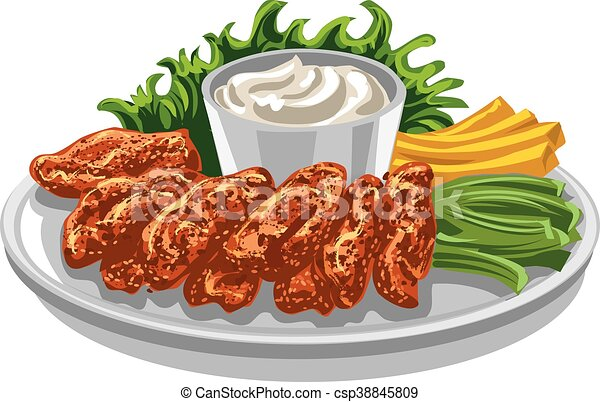 roasted chicken wings roasted in batter chicken wings with french rh canstockphoto com chicken wings pictures clip art animated chicken wings clip art