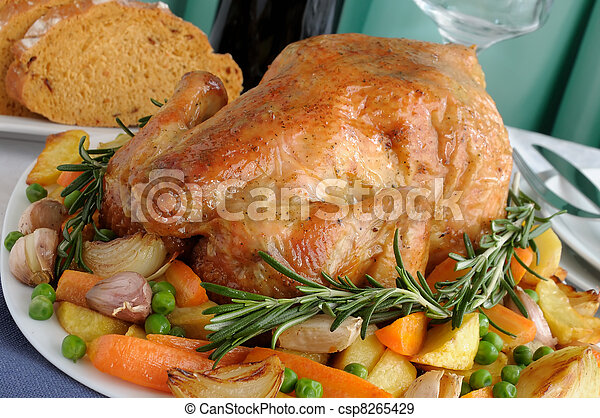 Roasted Chicken with Vegetables - csp8265429