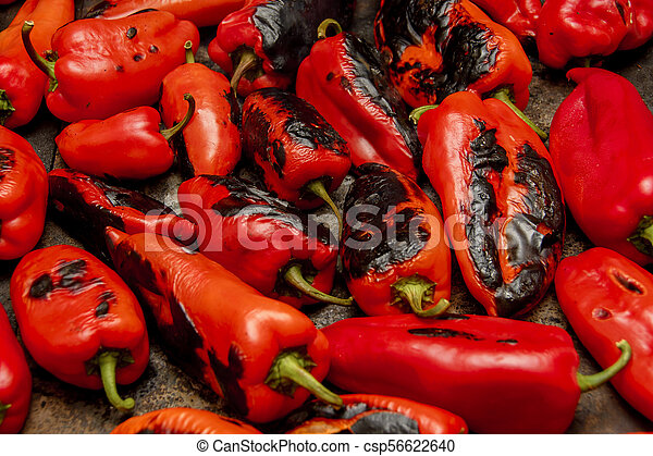 Roasted Red Peppers - csp56622640