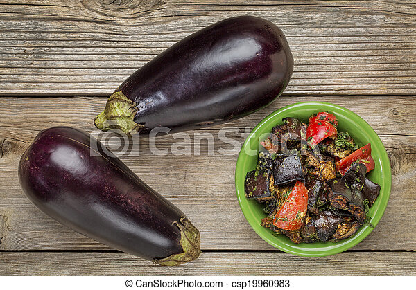 roasted spicy eggplant salad - csp19960983