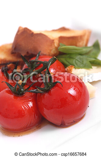 roasted tomato appetizer - csp16657684