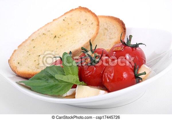 roasted tomato appetizer - csp17445726