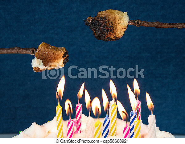 Roasting Marshmallow Over Birthday Candles