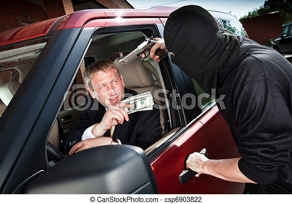 Robbery of the businessman - csp6903822