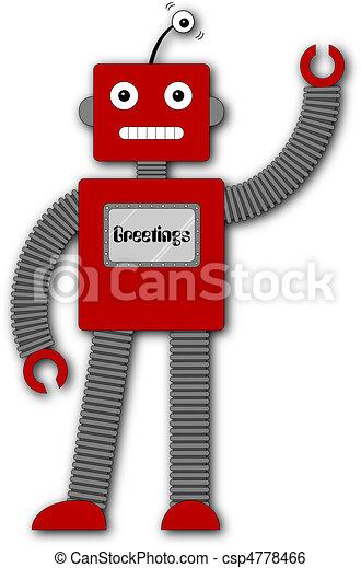 Robi the Retro Robot - Greetings - csp4778466