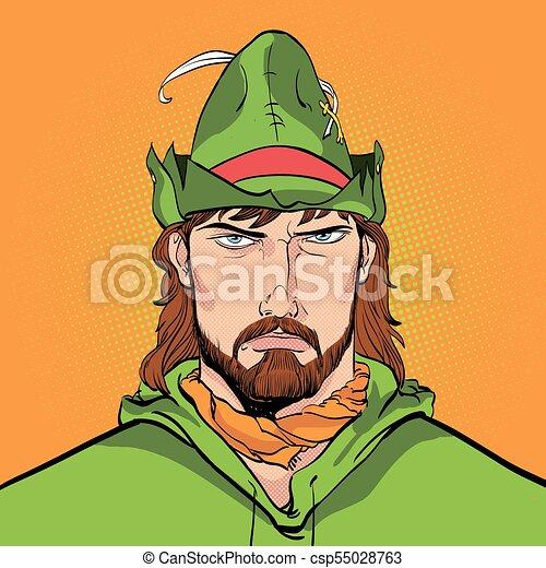 a620b6987bf Robin Hood. Defender of weak. Medieval legends. Heroes of medieval legends.  Halftone