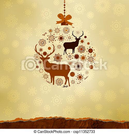 robiony, snowflakes., eps, upiększenia, 8, boże narodzenie - csp11352733