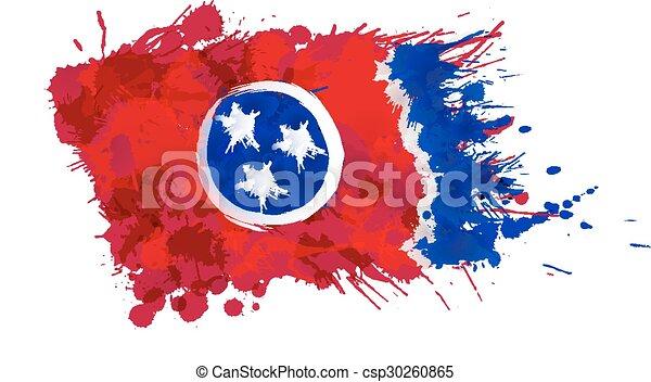 robiony, usa, barwny, tennessee, bandera, plamy - csp30260865