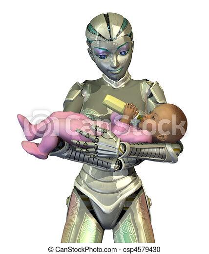 Resultado de imagen de Robot niñera