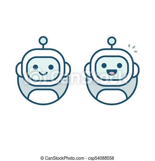 Robot avatar icon - csp54088556