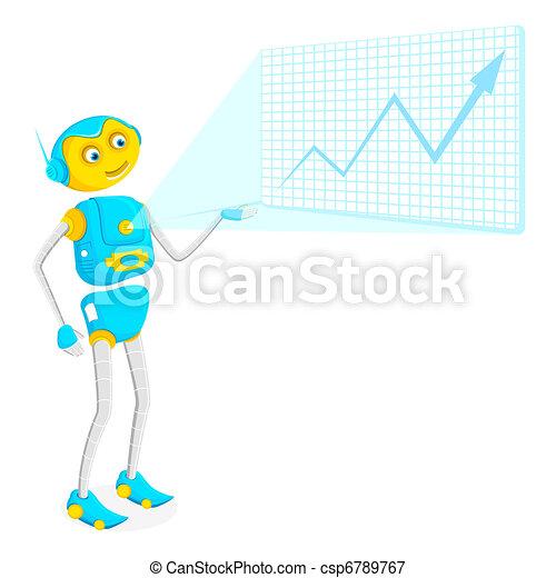 Robot giving Presentation - csp6789767